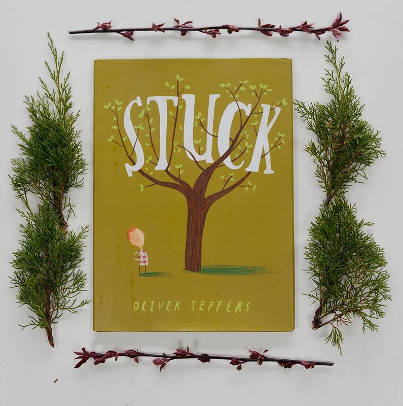 Stuck, picture book review, Oliver Jeffers, Ben Brick Illustrator North Dakota